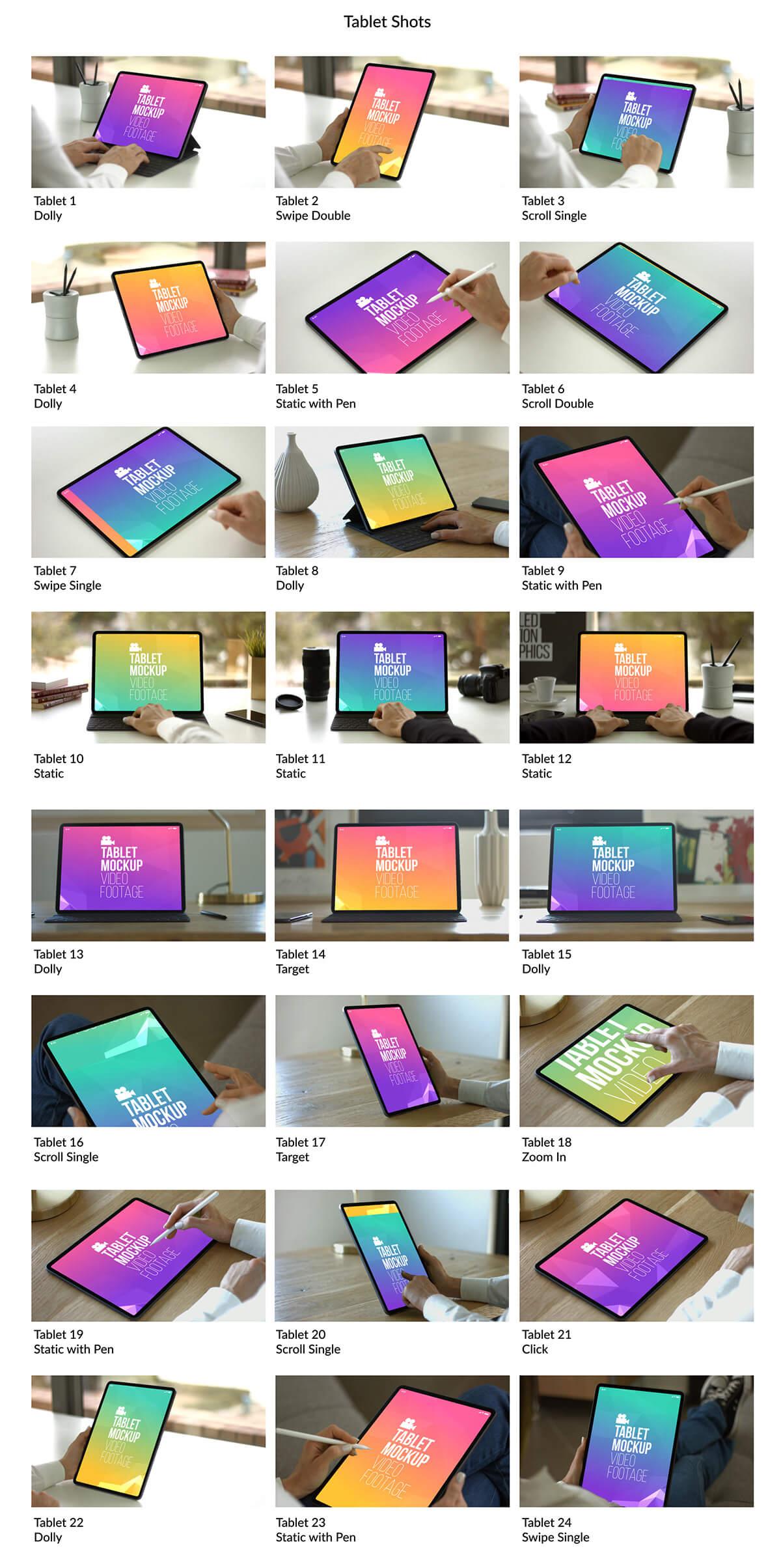 AE模板 100+手机电脑平板人物点击滑动操作实拍场景样机