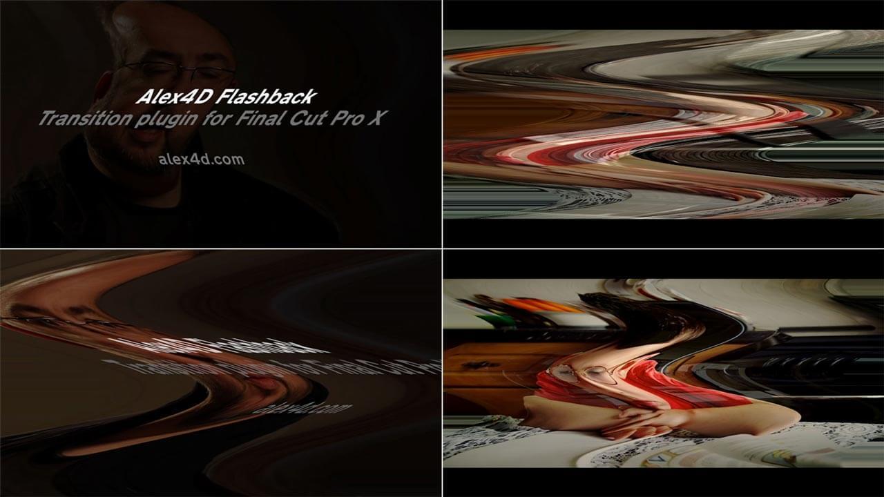 Fcpx效果插件 幻觉回忆转场过渡画面波浪扭曲特效 Alex4D Flashback transition