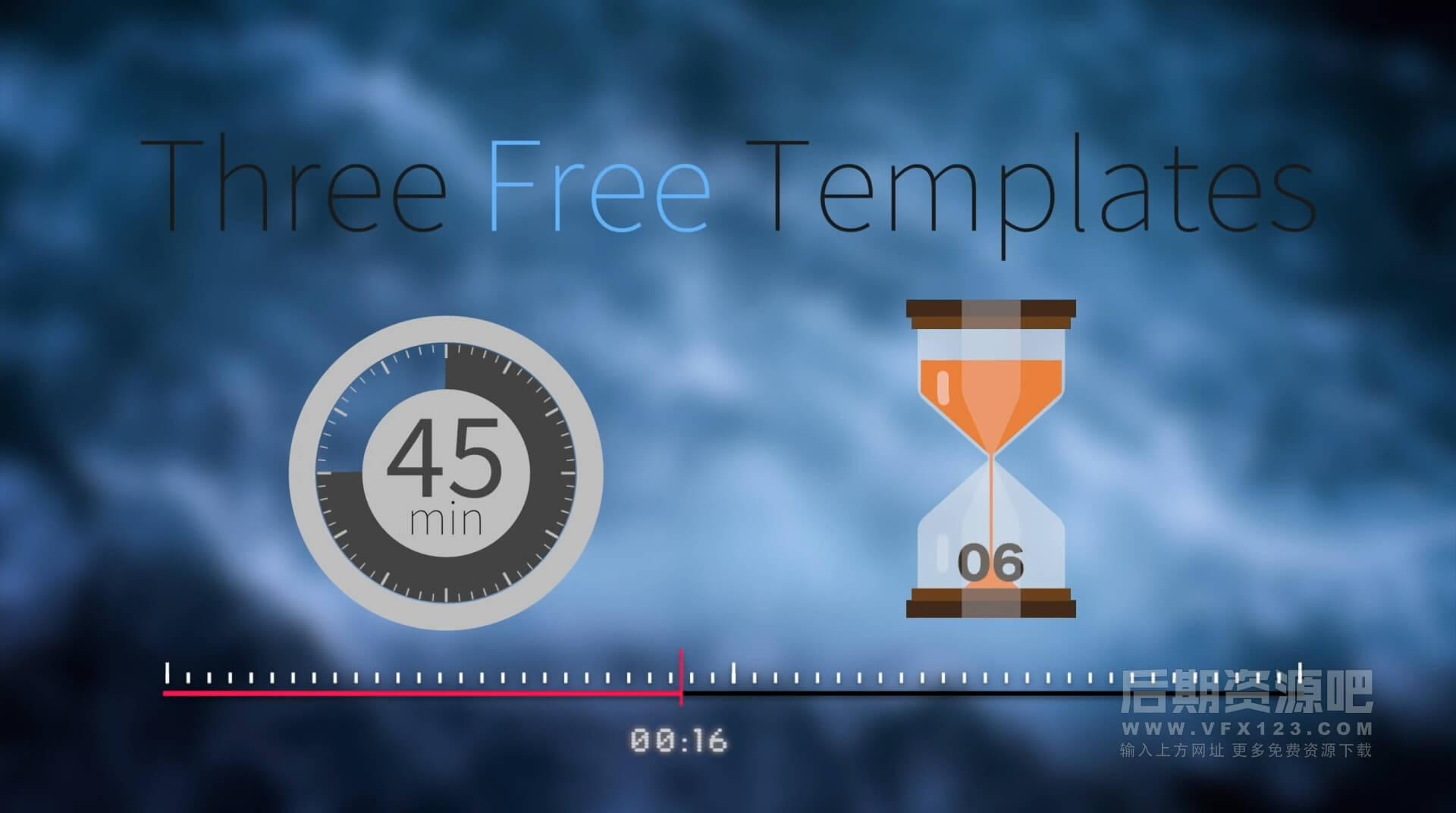 Fcpx插件 28个时间计时器倒计时MG动画模板 Time Pop