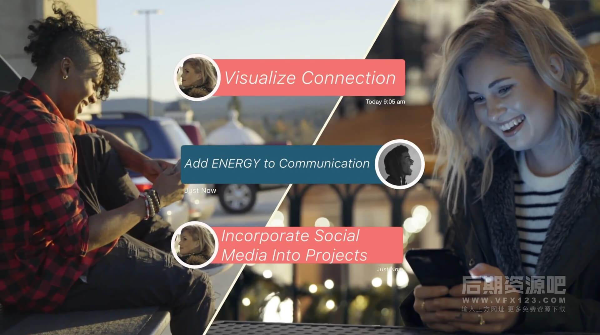 Fcpx插件 30组社交软件对话框信息条表情点赞评论动画 GetSOCIAL