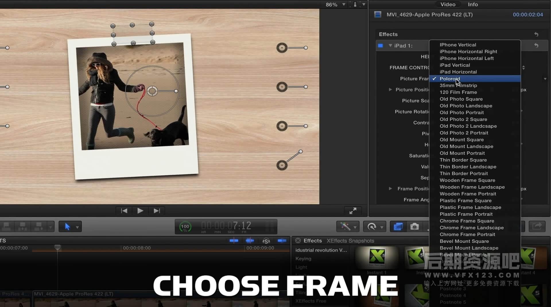 Fcpx插件 107组冻结视频单帧镜头快照3D动画模板 XEffects Snapshots