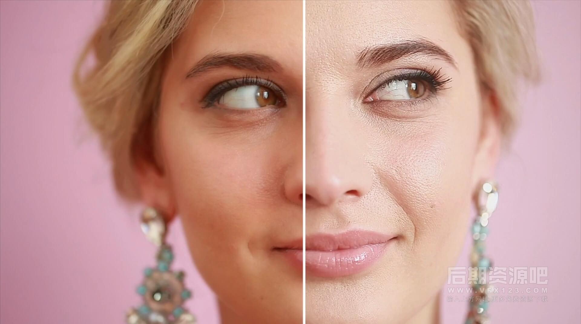 Fcpx磨皮美肤插件 傻瓜快速润肤皮肤光滑插件 Skin Smoother