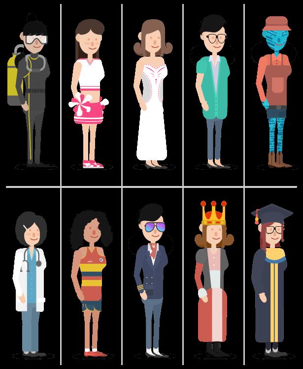 Fcpx插件 卡通角色解说场景动画解释器工具包 人物背景图表标题MG元素Icon图标