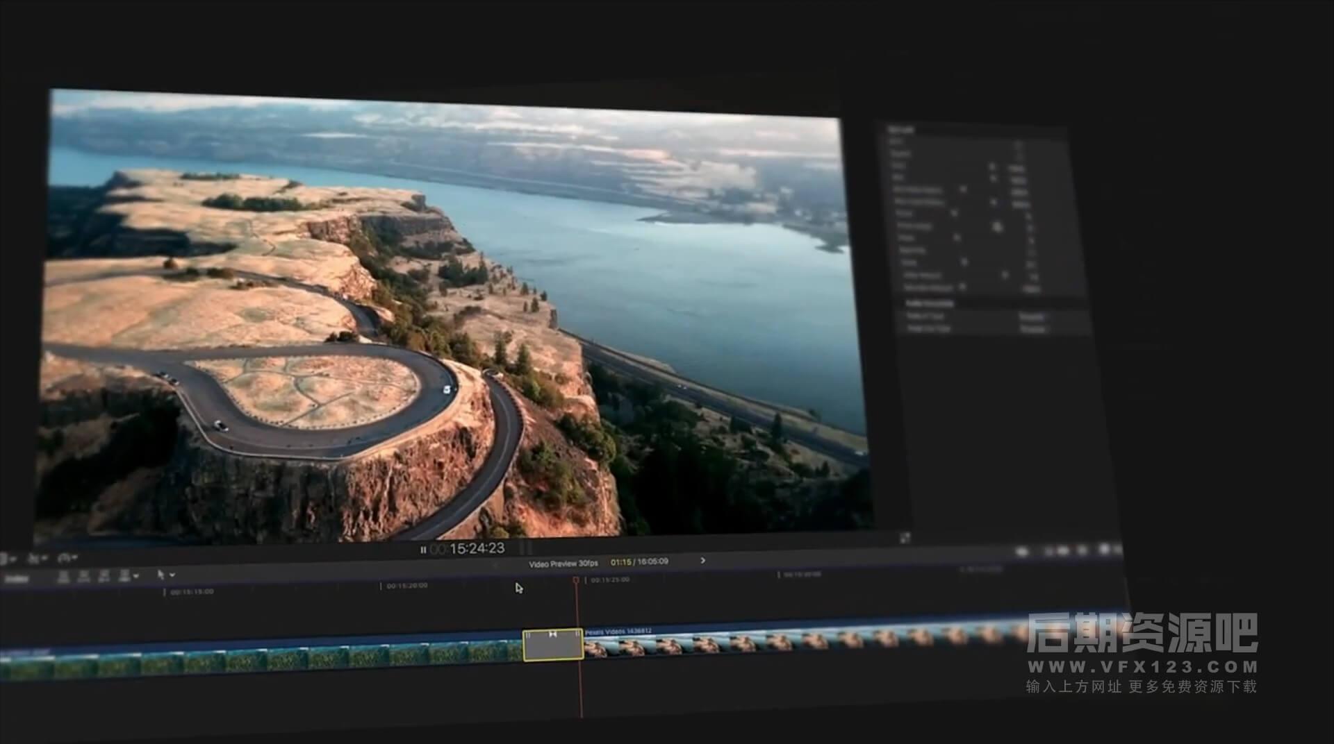 Fcpx转场插件 150组4K现代流行镜头摇移缩放旋转拉伸干扰效果+音效素材