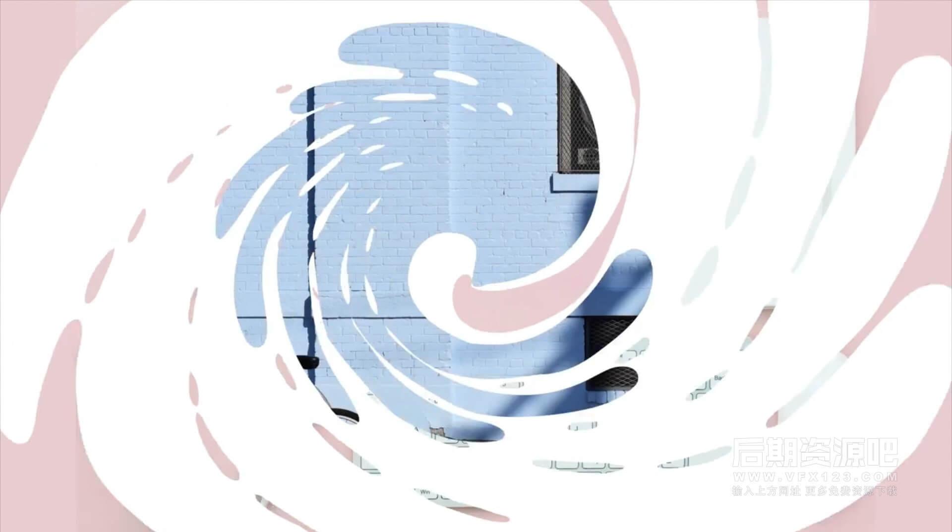 Fcpx插件 10组卡通液体水流可爱标题模板 Vlog常用标题