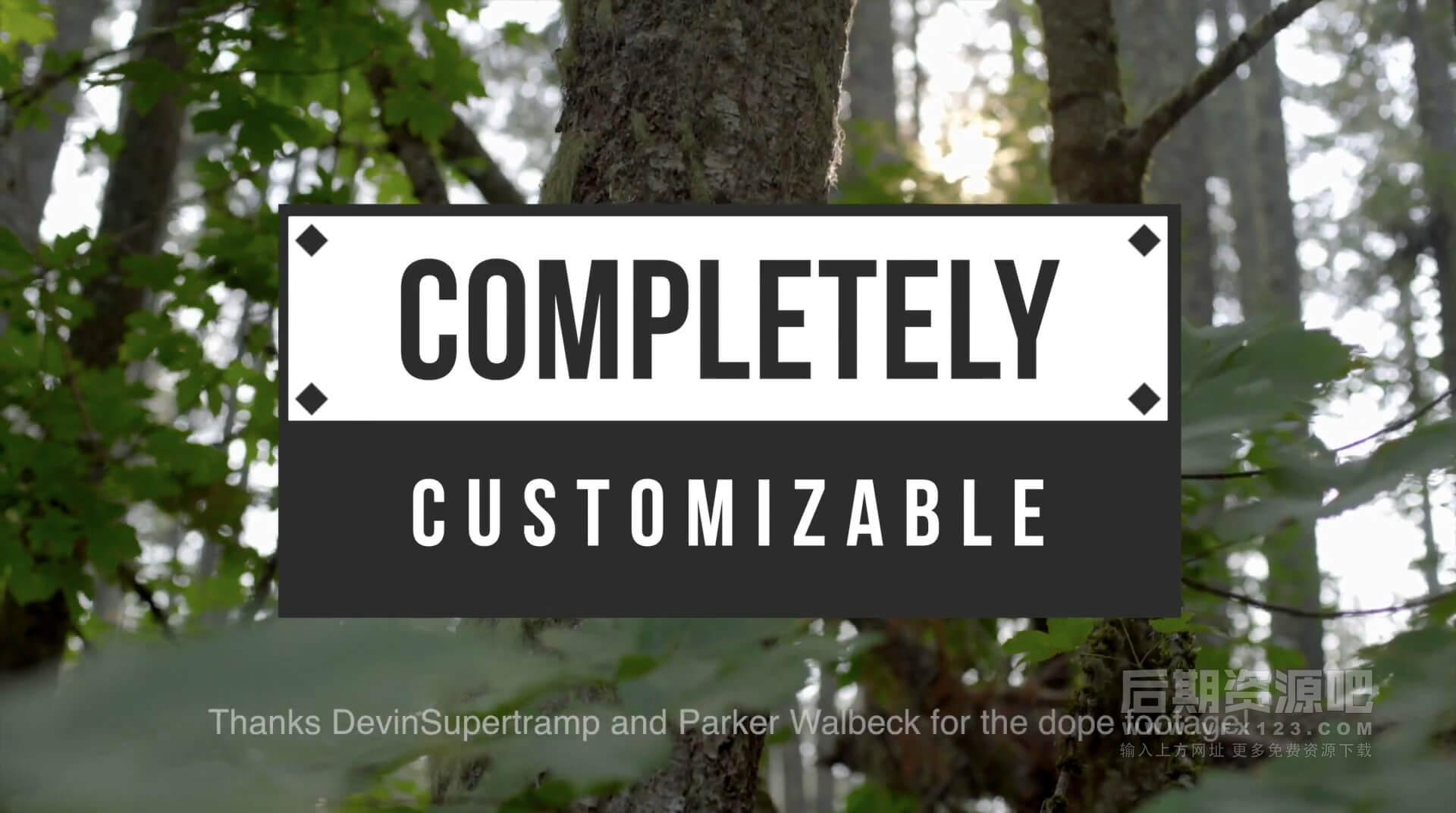 Fcpx插件 27组简约大字封面标题模板 Stupid Raisins Simple Pop