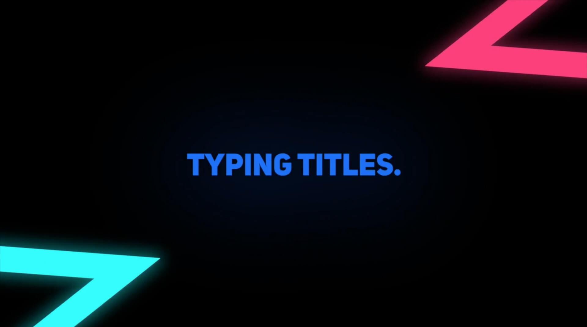 Fcpx插件 24种逐字出现字幕打字机动画效果 Typing Titles X