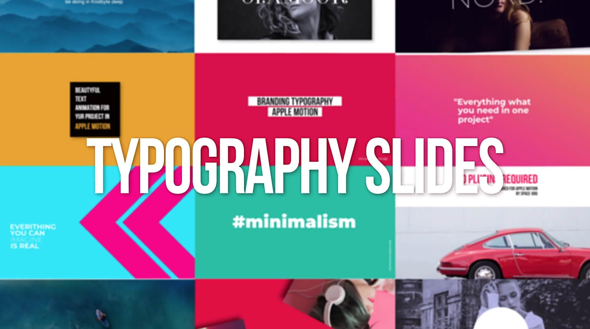FCPX插件 40组现代时尚创意文字标题排版图片视频包装预设 Typography Scenes