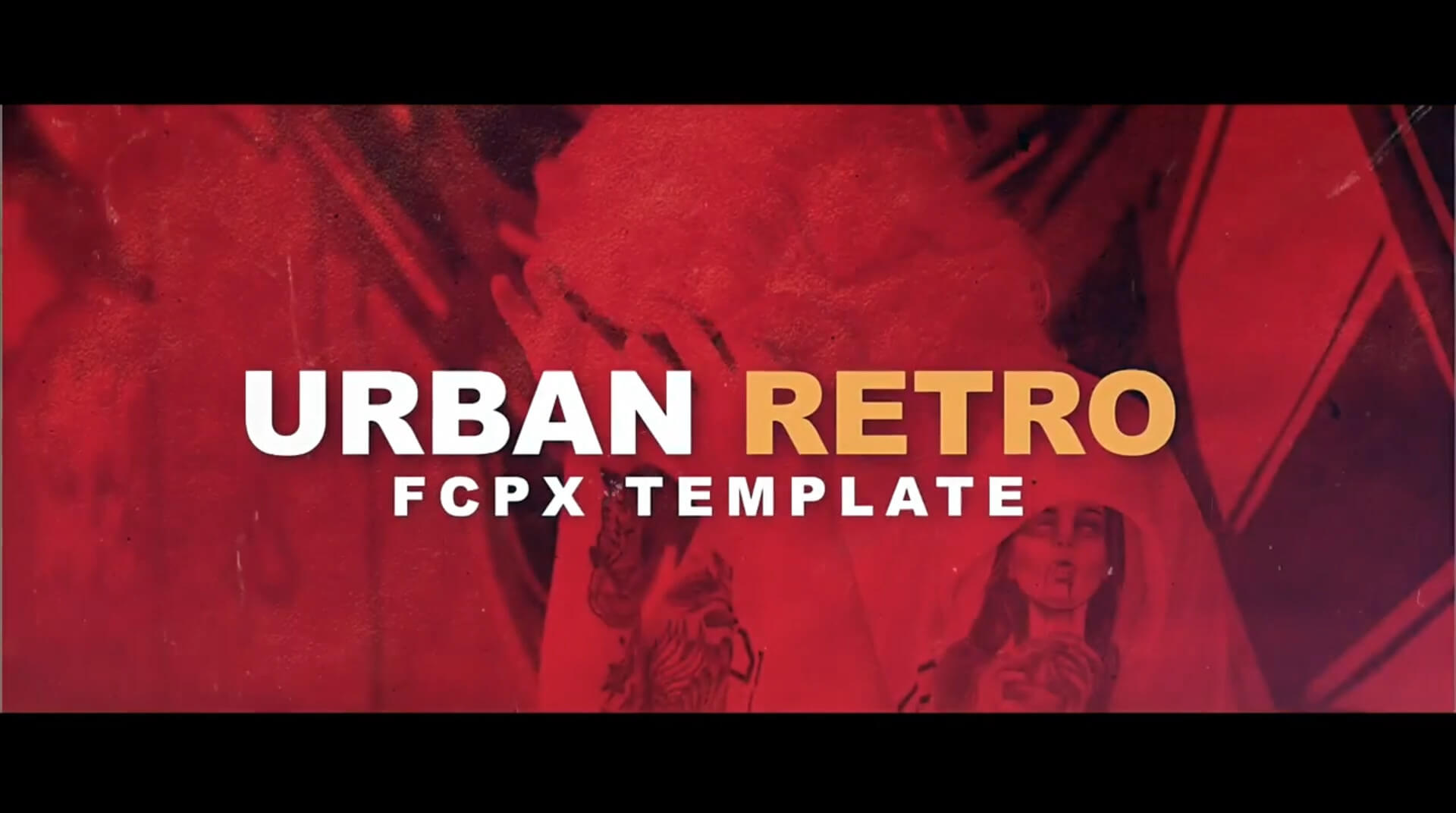 Fcpx主题模板 现代流行复古个性片头个人写真模板 Urban Retro