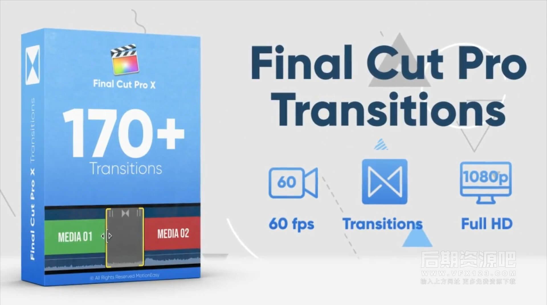 Fcpx插件 170+流行时尚图形遮罩转场集合 Transitions