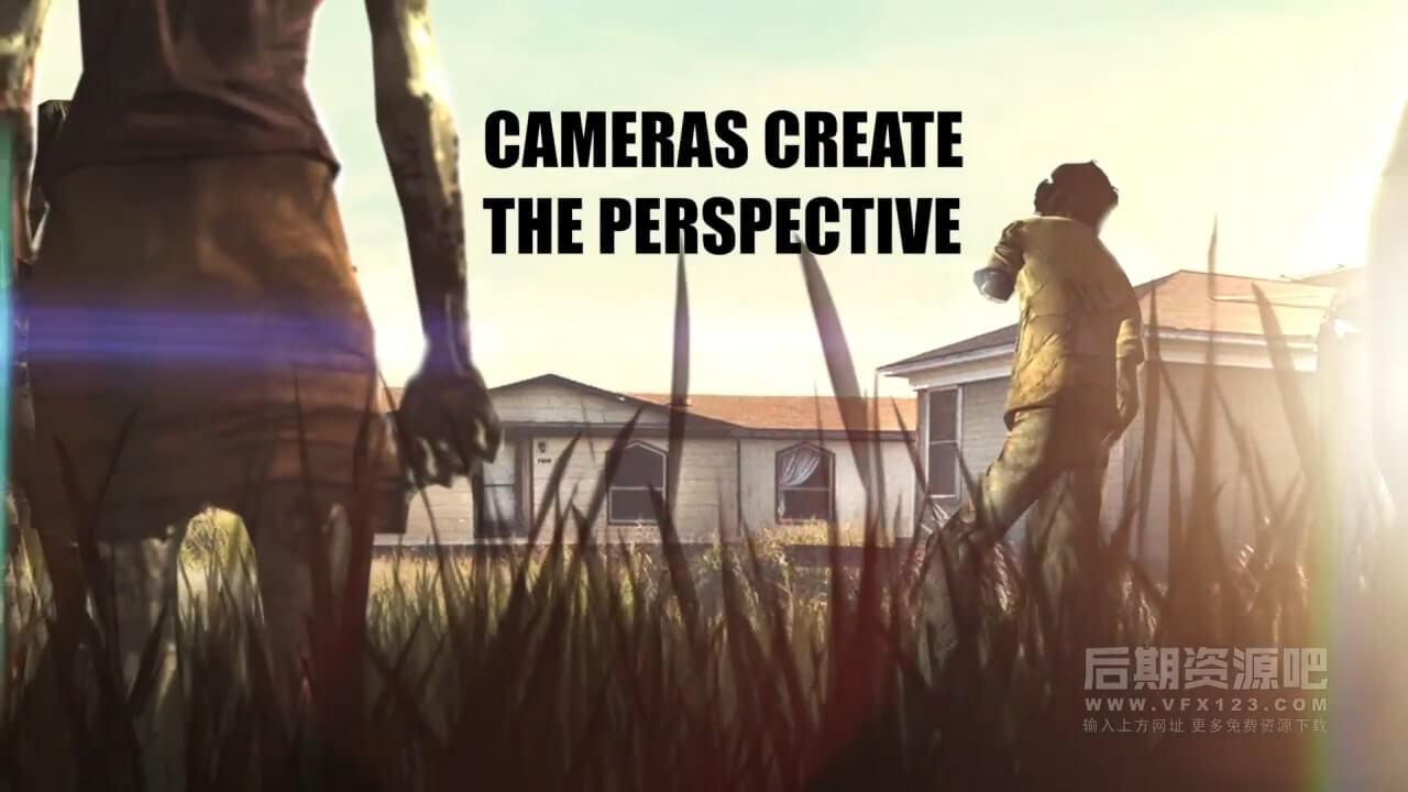 Fcpx插件 2D平面图片转3D立体动态景深空间透视运动工具 CineFlare PopOut