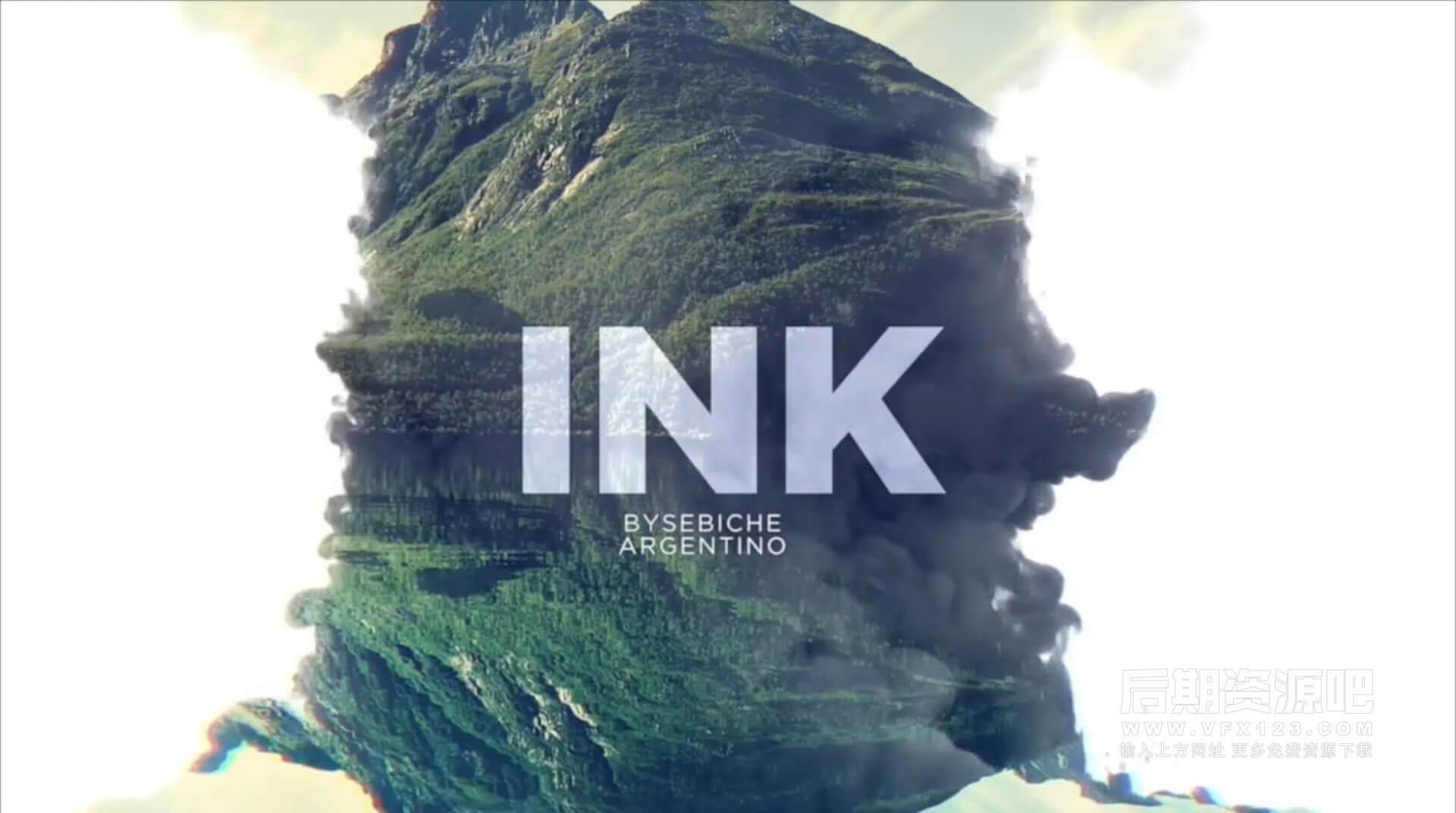 Motion模板 水墨风格图片视频展示模板 INK 水彩墨晕染片头