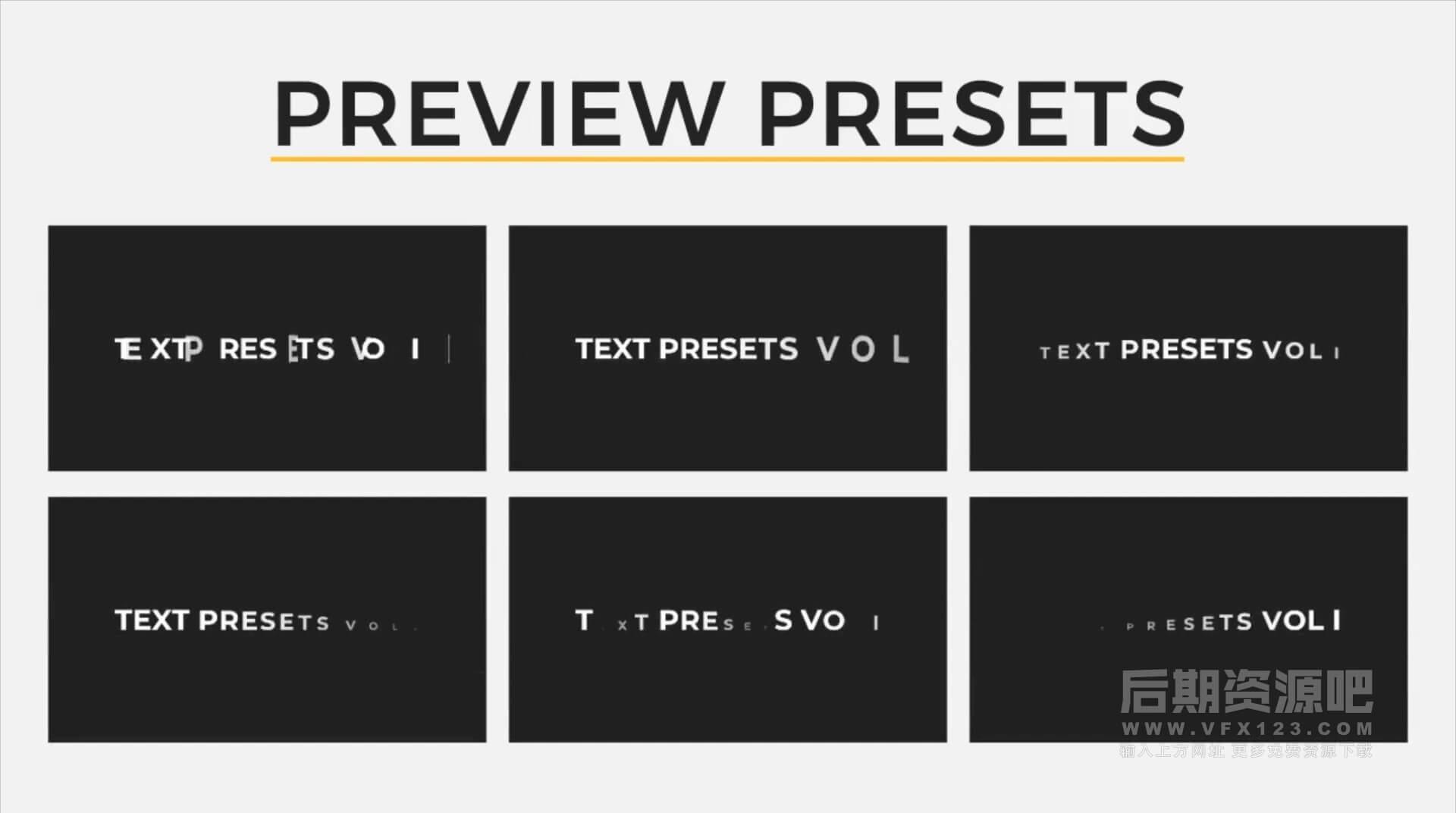 Fcpx字幕动画插件 30组简单实用文字标题动画预设 第一季