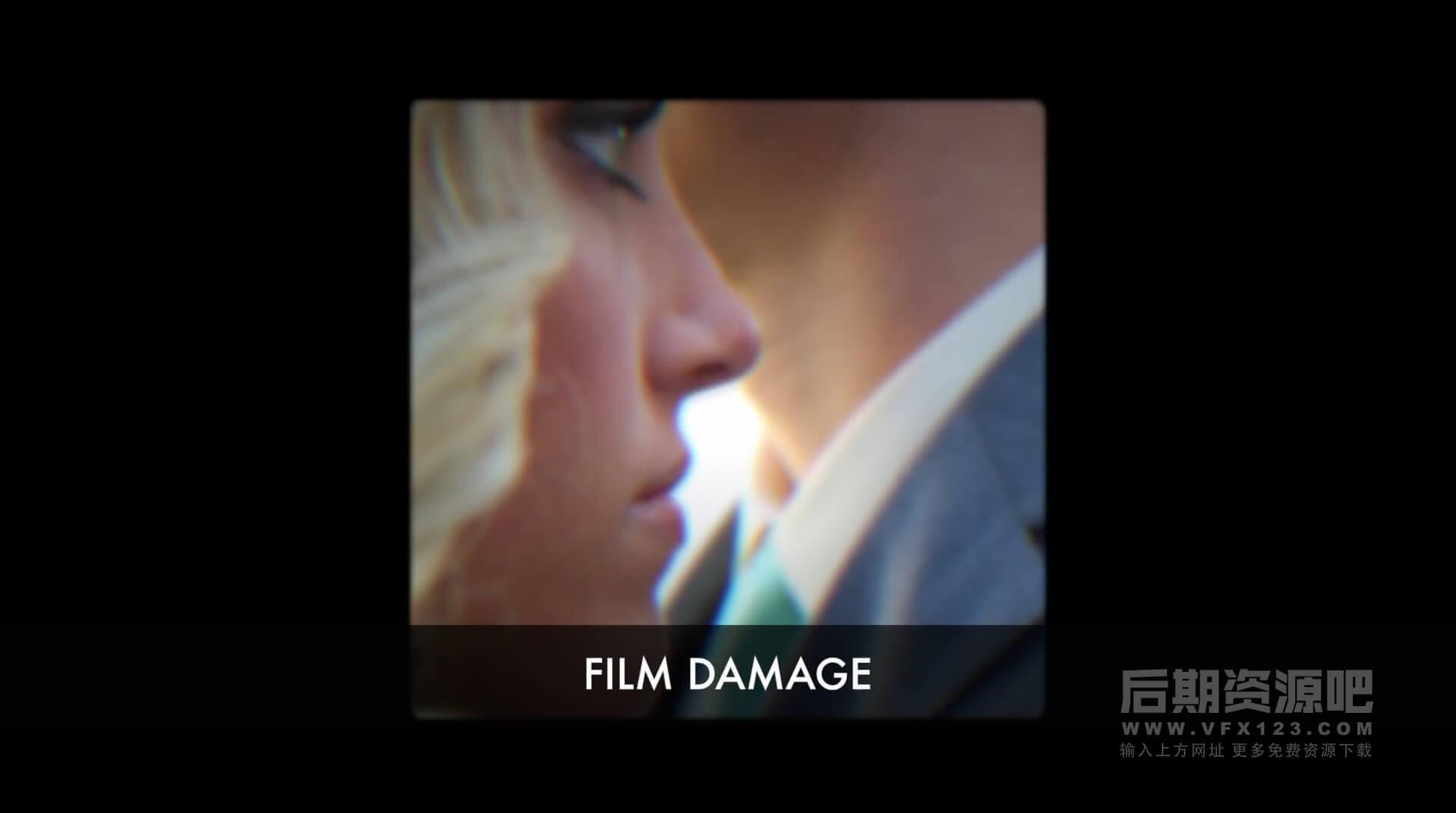 Fcpx插件 复古电影胶片幻灯机播放效果过渡转场 CineFlare Film Strip