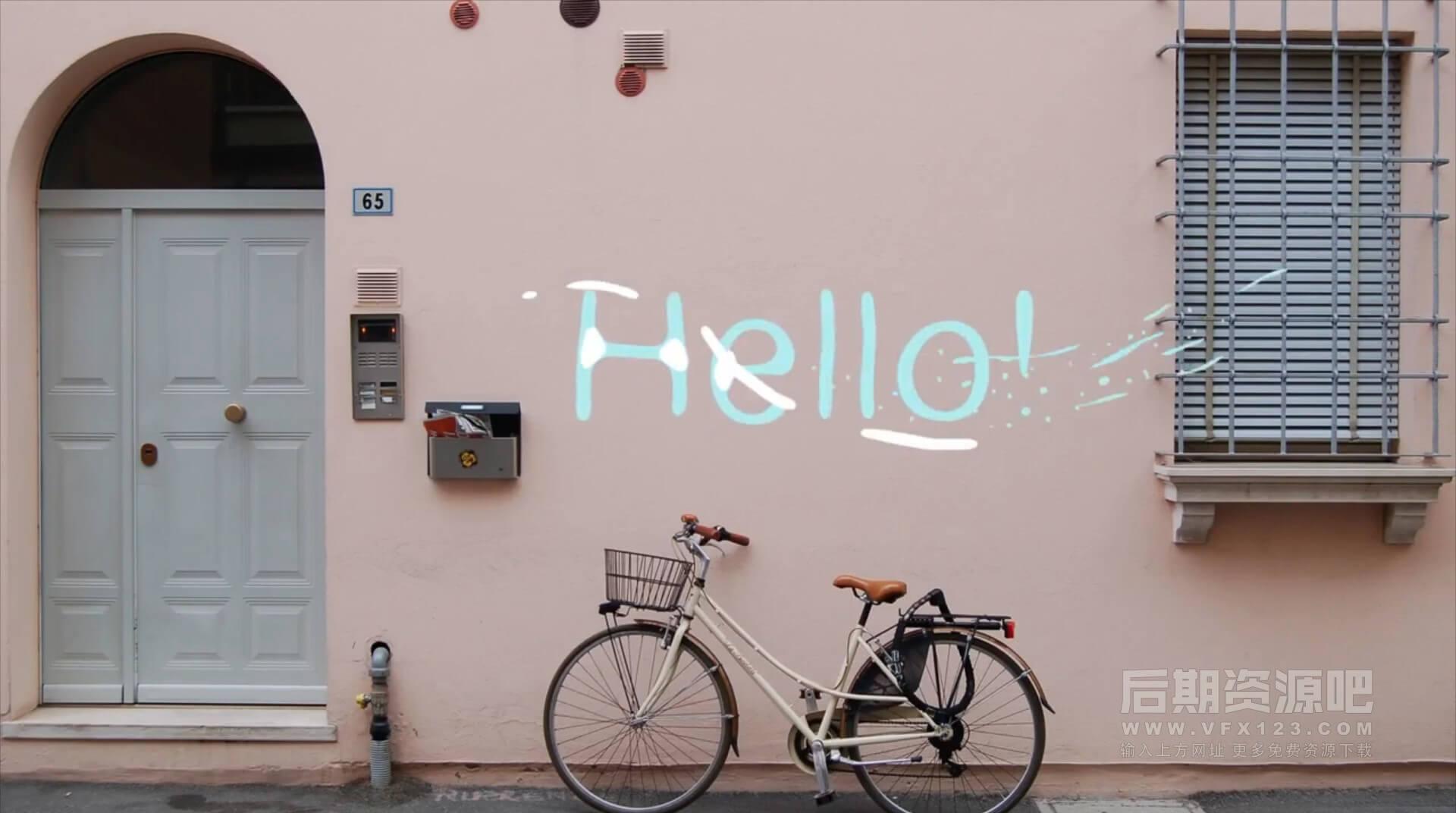 FCPX标题插件 10组卡通液体手绘字幕+音效 Vlog常用标题模板  2D Lyric Titles