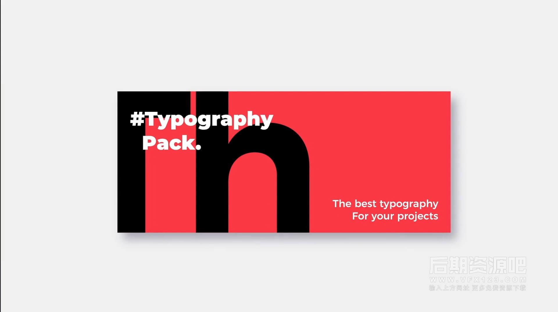 FCPX插件 10组时尚版式动画大标题排版侧栏模板 Animated Typography