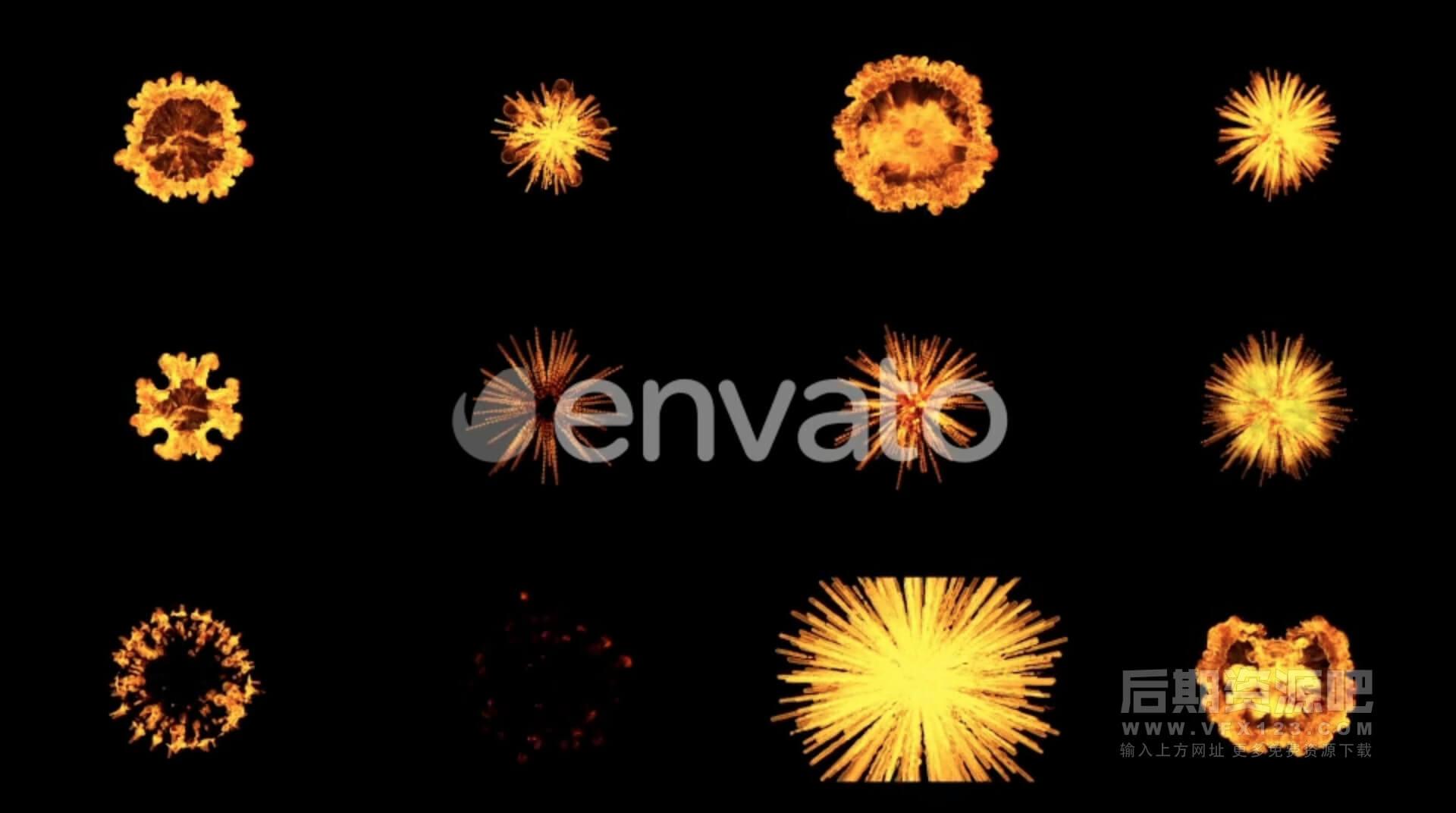 视频素材 46个火焰爆炸动态特效动画素材 带透明通道