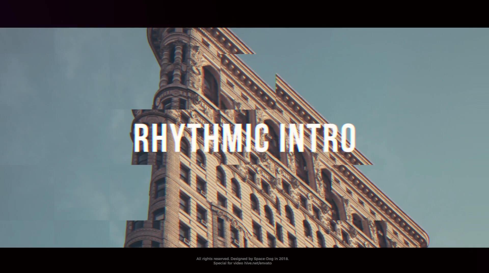 FCPX主题模板 时尚炫酷节奏快闪片头 Rhythmic Intro 兼容Motion