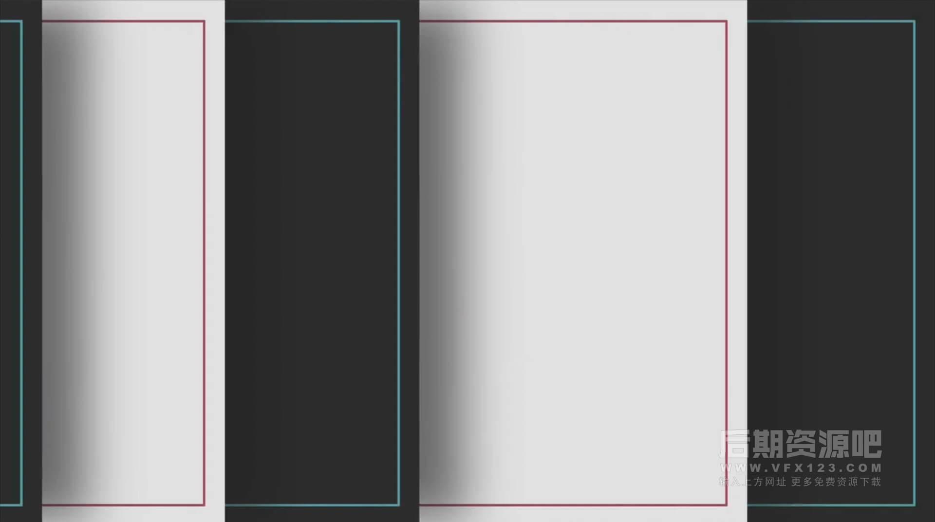 FCPX插件 12组多层堆叠图形过渡转场 Multilayer Transitions