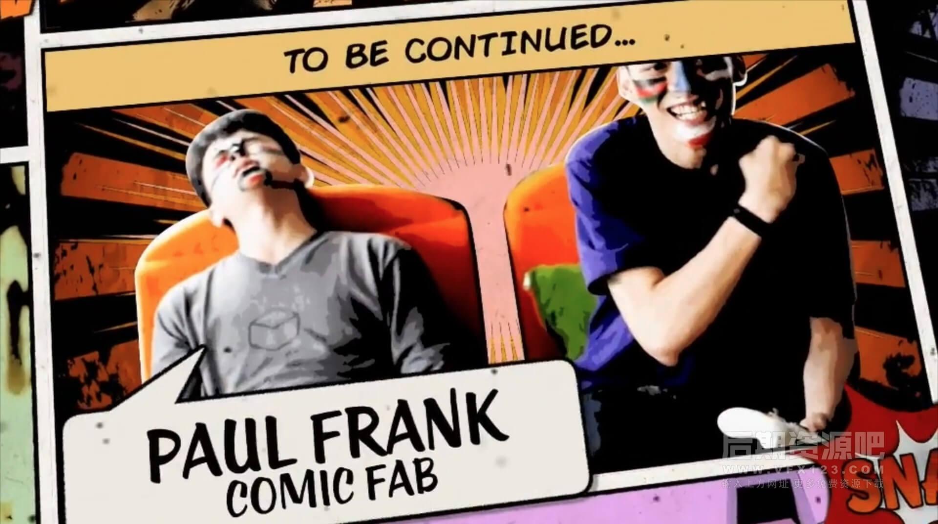 FCPX插件 5款漫画风格静帧画面冻结动画转场 Freeze frames Comic Pack