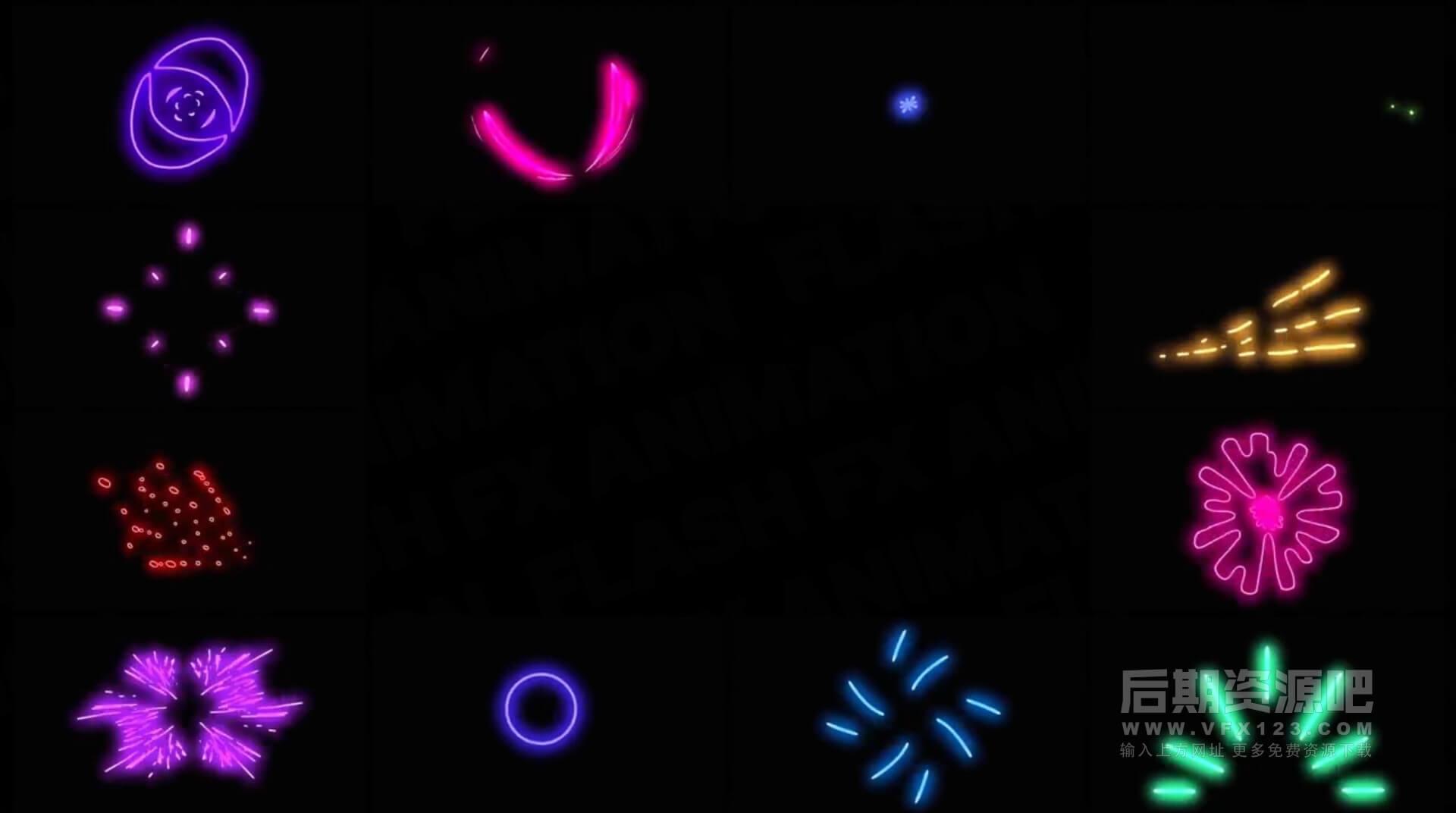 FCPX插件 霓虹灯发光手绘闪烁效果动画元素 Neon Generators