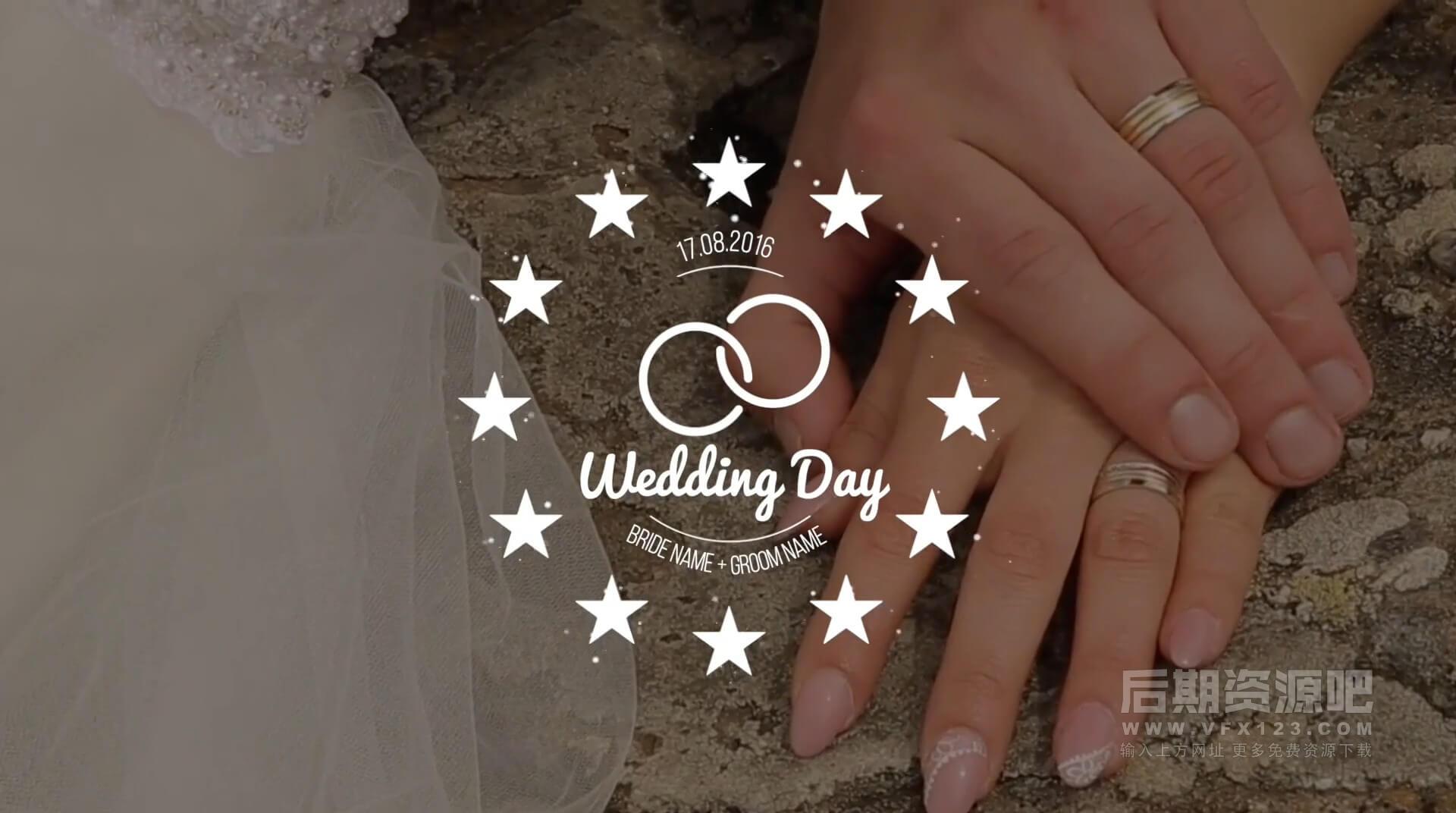 FCPX插件 20种唯美浪漫小清新线条婚礼文字标题动画 Wedding Titles v2