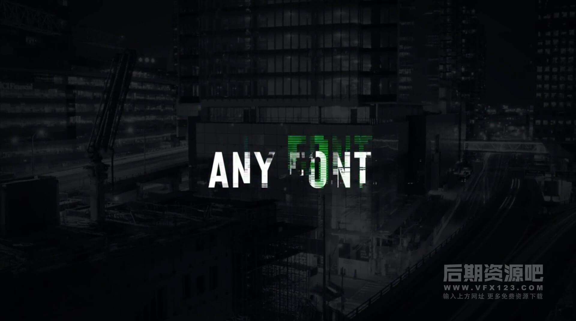 FCPX标题插件 56个毛刺干扰故障科幻风格字幕 Vlog常用标题 Titles Animator