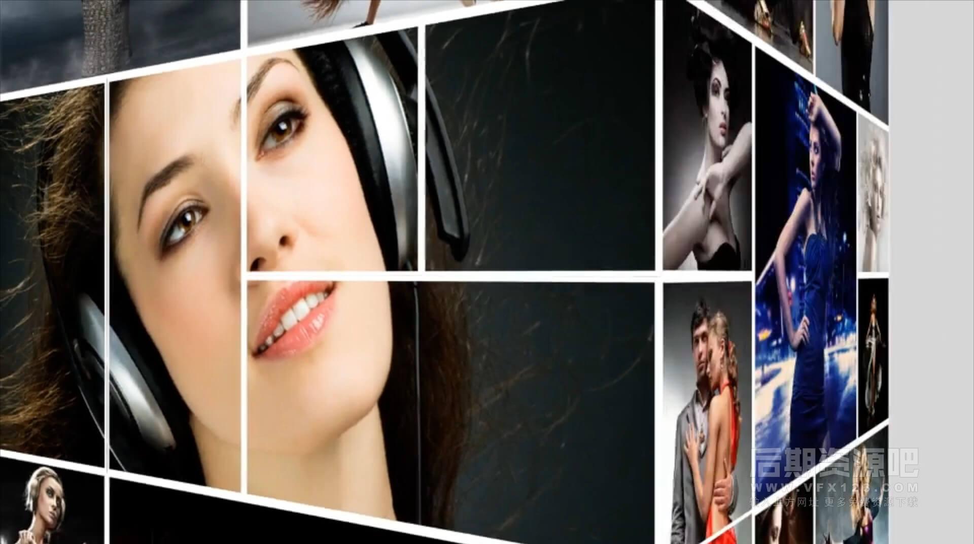 Motion模板 照片拼贴图片墙展示片头效果 Simple Slideshow Tower Promo
