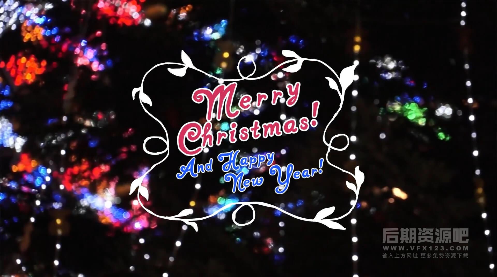 FCPX插件 10个圣诞节新年手绘卡通标题动画+转场