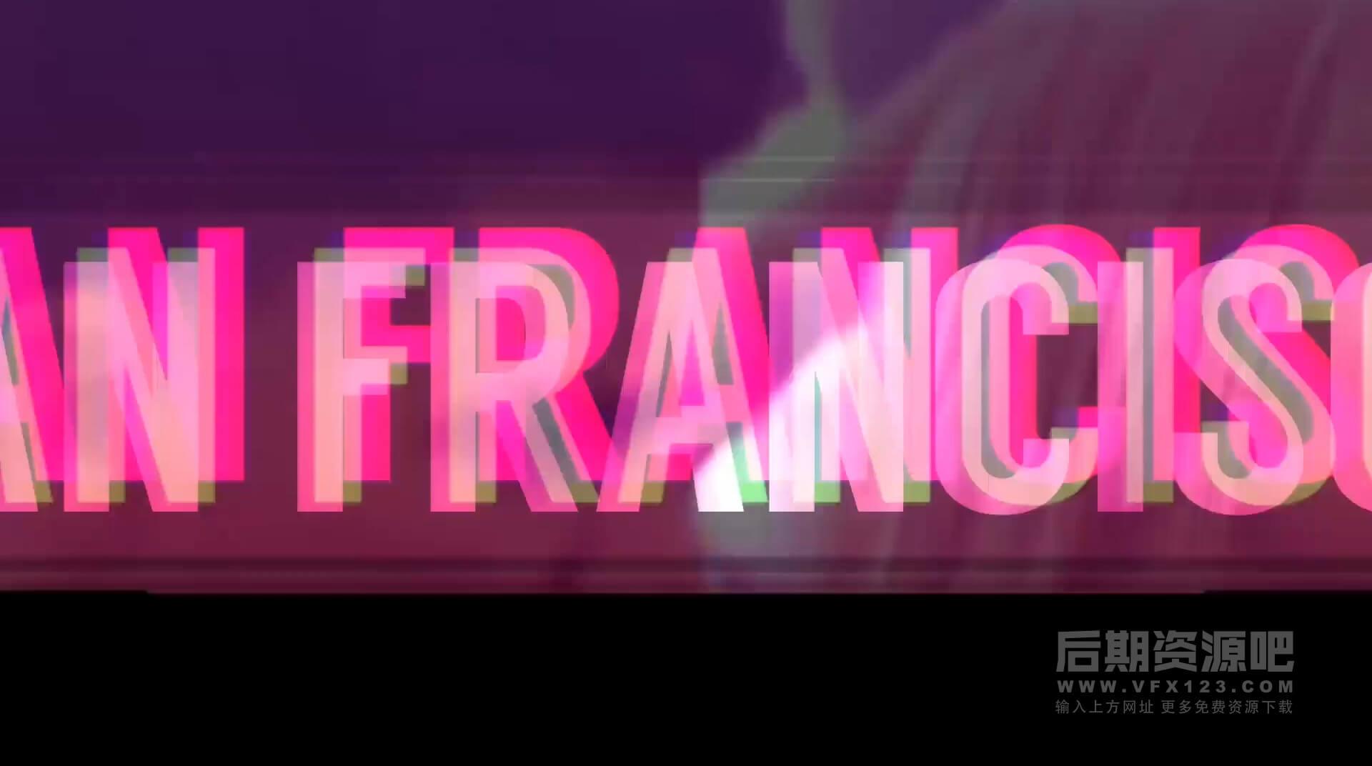 Fcpx主题模板 DJ劲爆干扰故障效果夜总会开场片头模板 DJ Night Club Promo