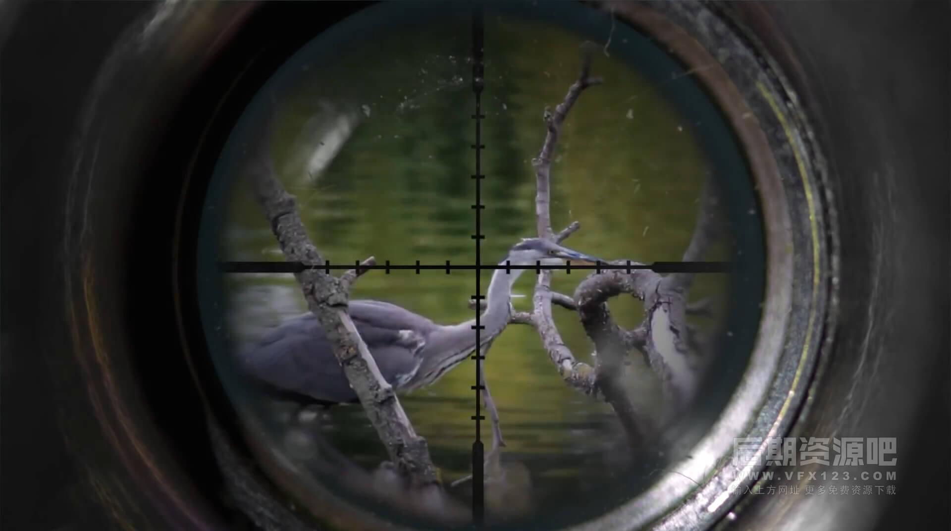 FCPX效果插件 望远镜瞄准镜效果 Binocular Scope Effects