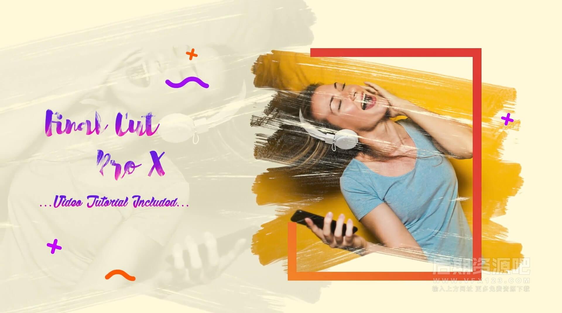 Fcpx主题模板 优雅清新夏日旅行快乐假期相册展示模板 Summer Slideshow