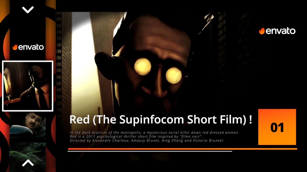 Fcpx插件 幻灯片滑动效果前10排名图片视频展示模板