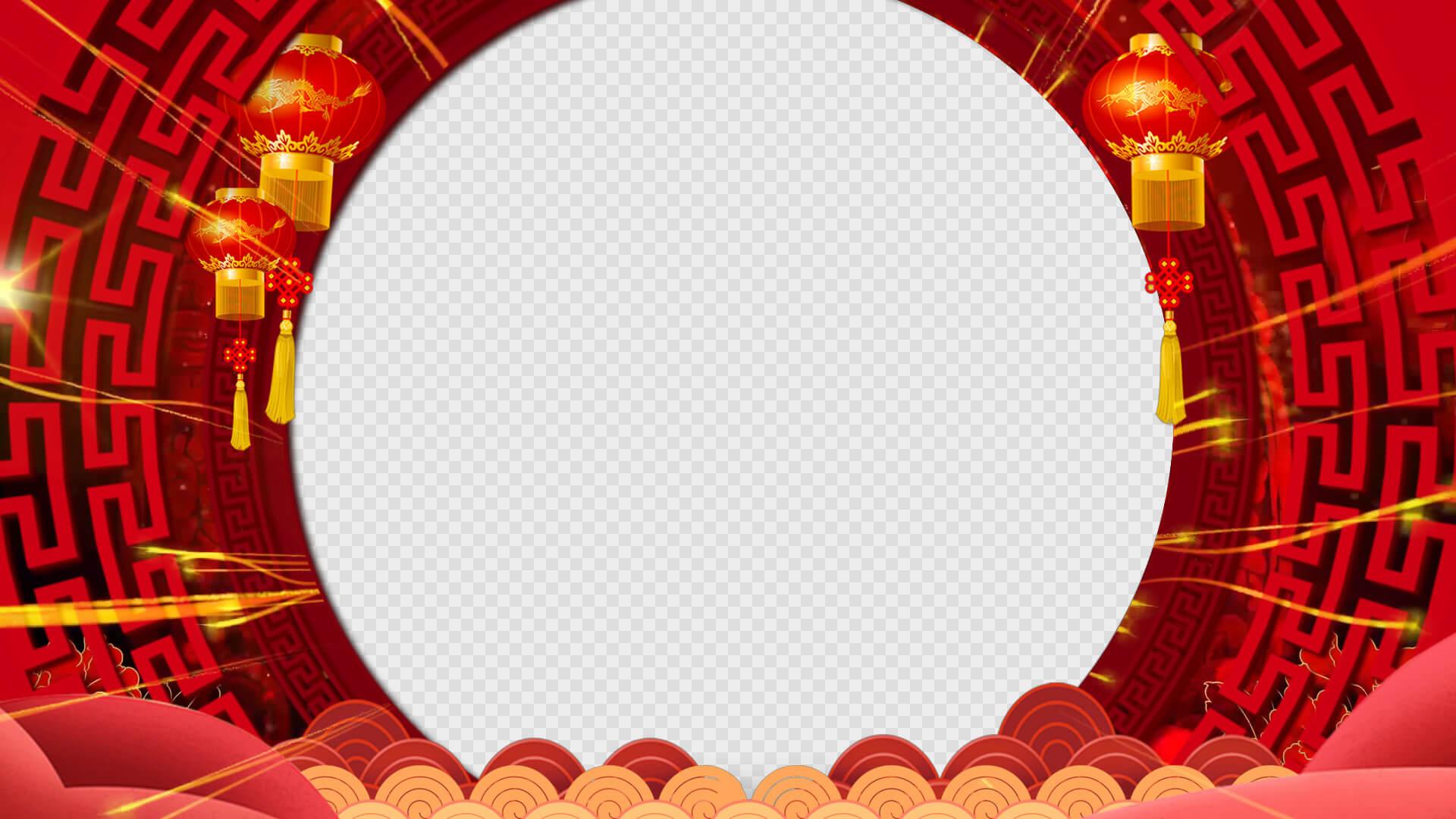 10组拜年边框前景视频素材 带通道 无缝循环 送配乐 集合①