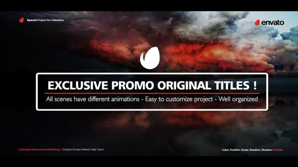 Fcpx标题插件 20组史诗标题文字排版动画模板 支持中英文 Epic Titles