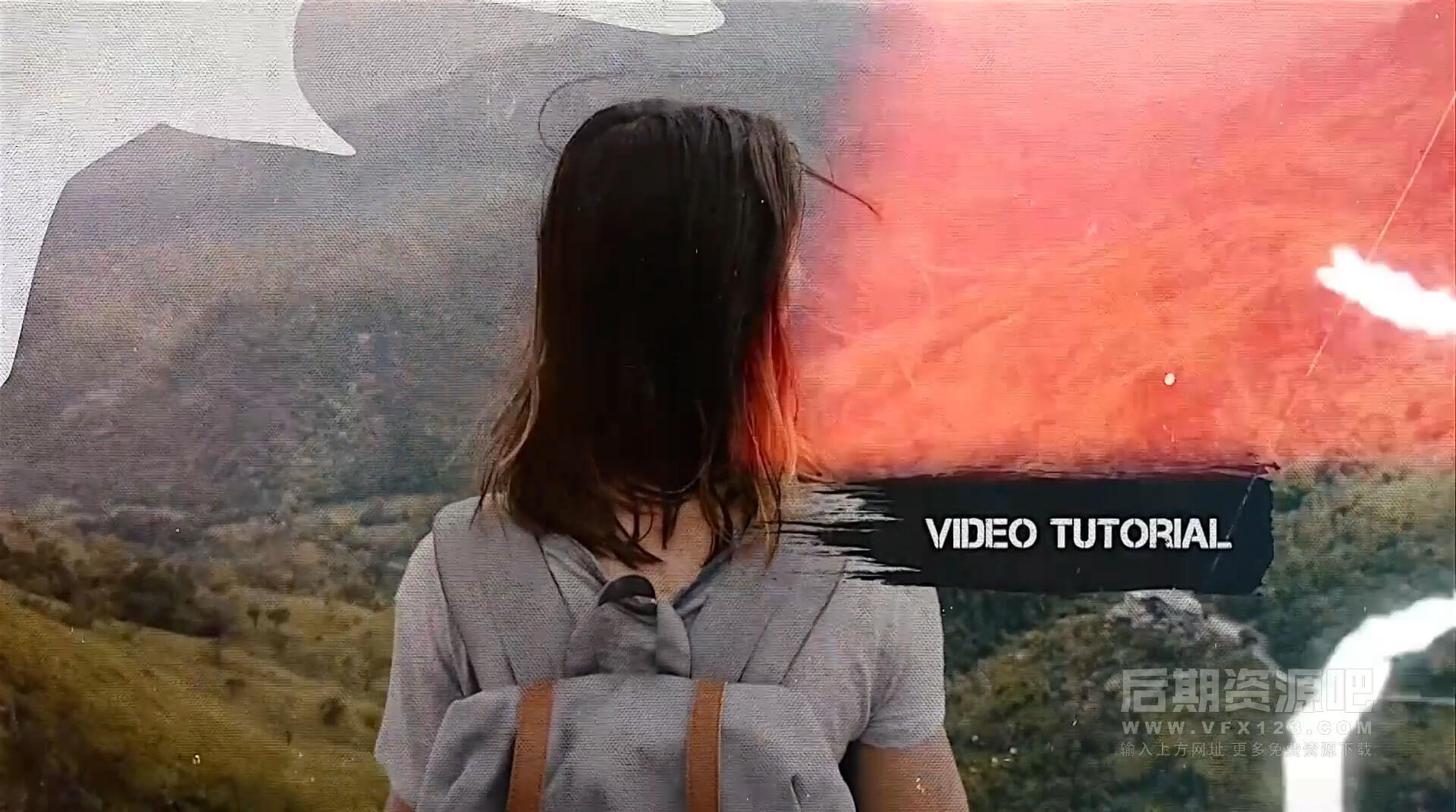 Fcpx主题插件 炫酷时尚定格动画效果图片视频展示模板 Stop Motion Grunge