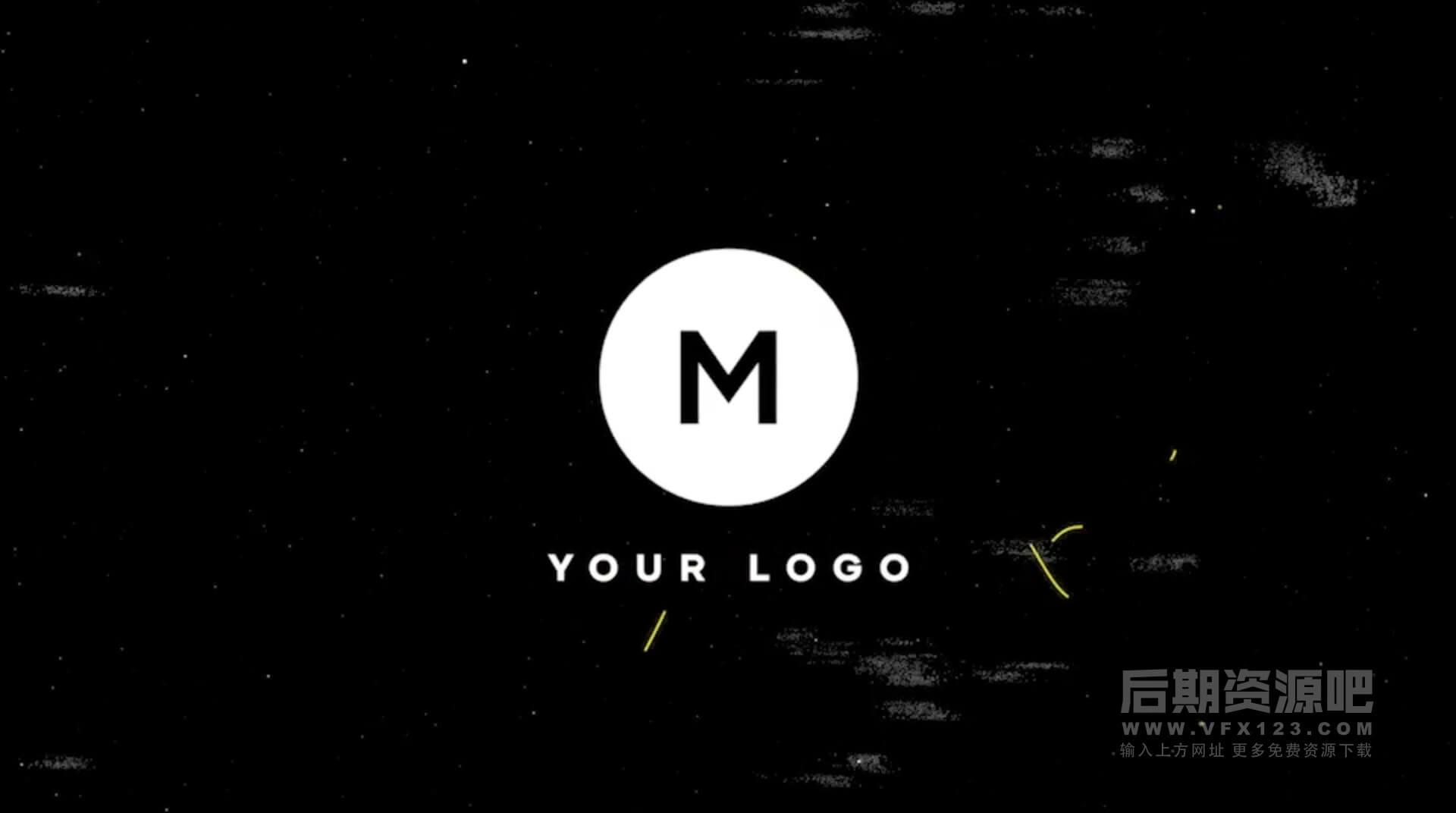 Fcpx主题插件 涂鸦扭曲故障特效LOGO展示模板 Scribble Grunge Logo