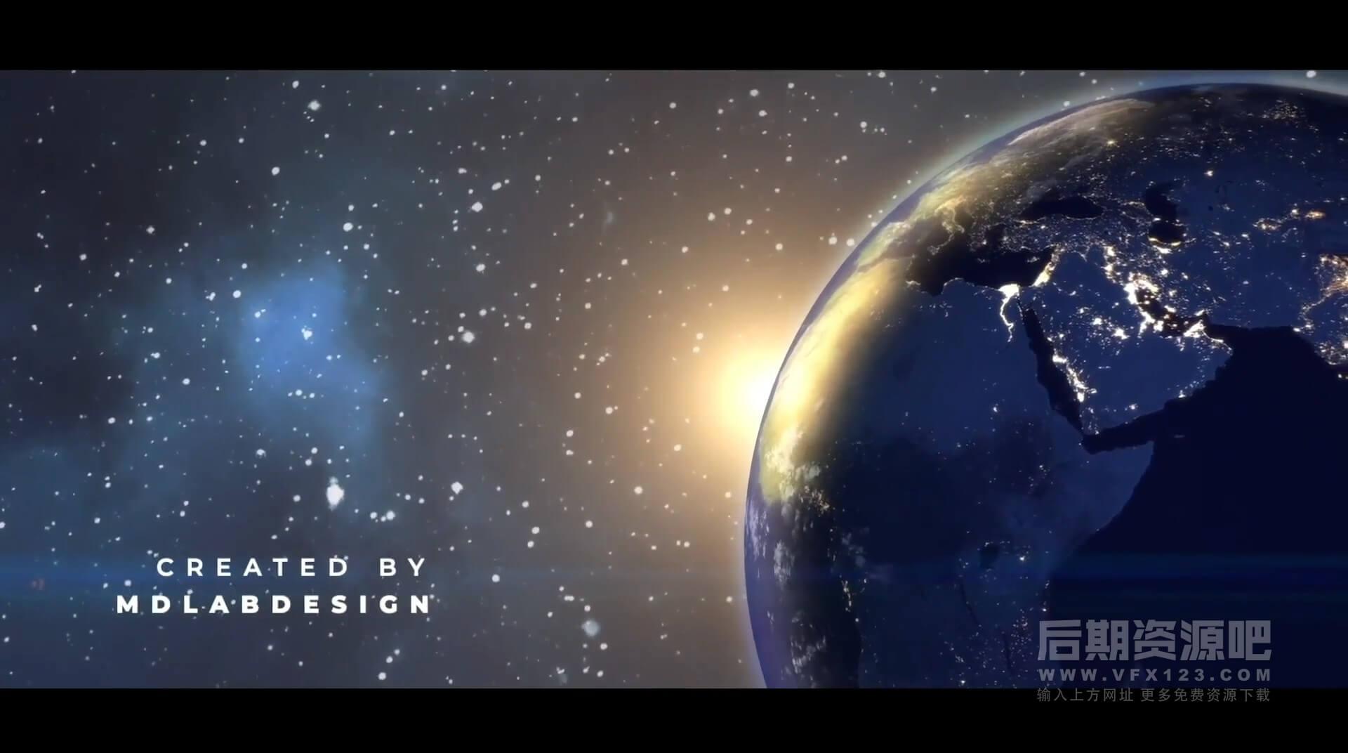 Fcpx插件 大气宇宙空间地球背景标题片头模板 Earth Planet Titles