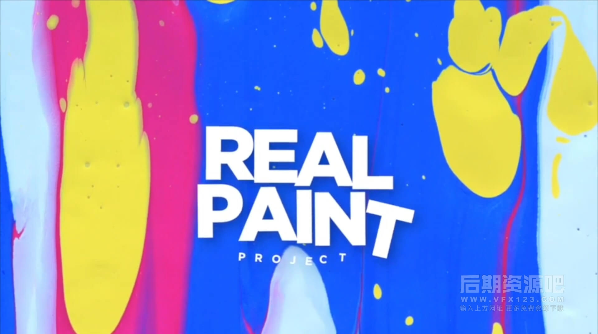 Motion模板 色彩斑斓彩色喷墨特效写真模板 Paint World