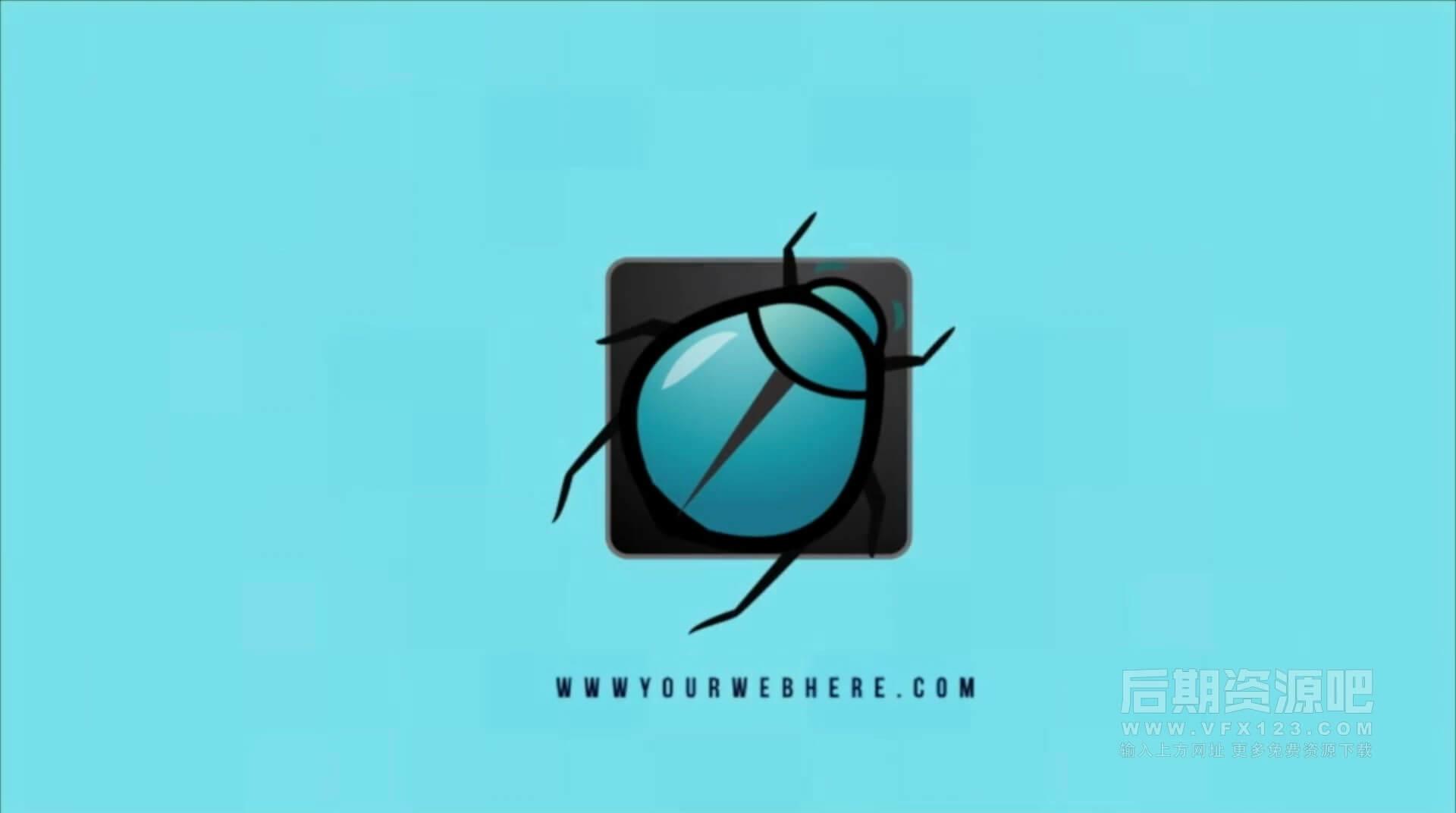 Motion模板 信号干扰故障徽标LOGO展示模板 Distortion Logo 3