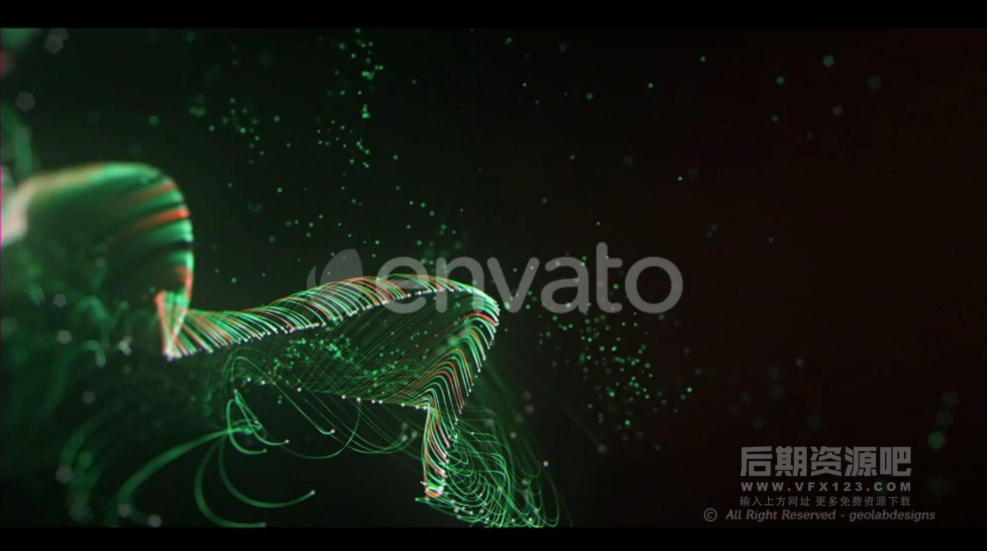 视频素材 10个抽象优雅流动粒子空间感LED大屏幕背景素材