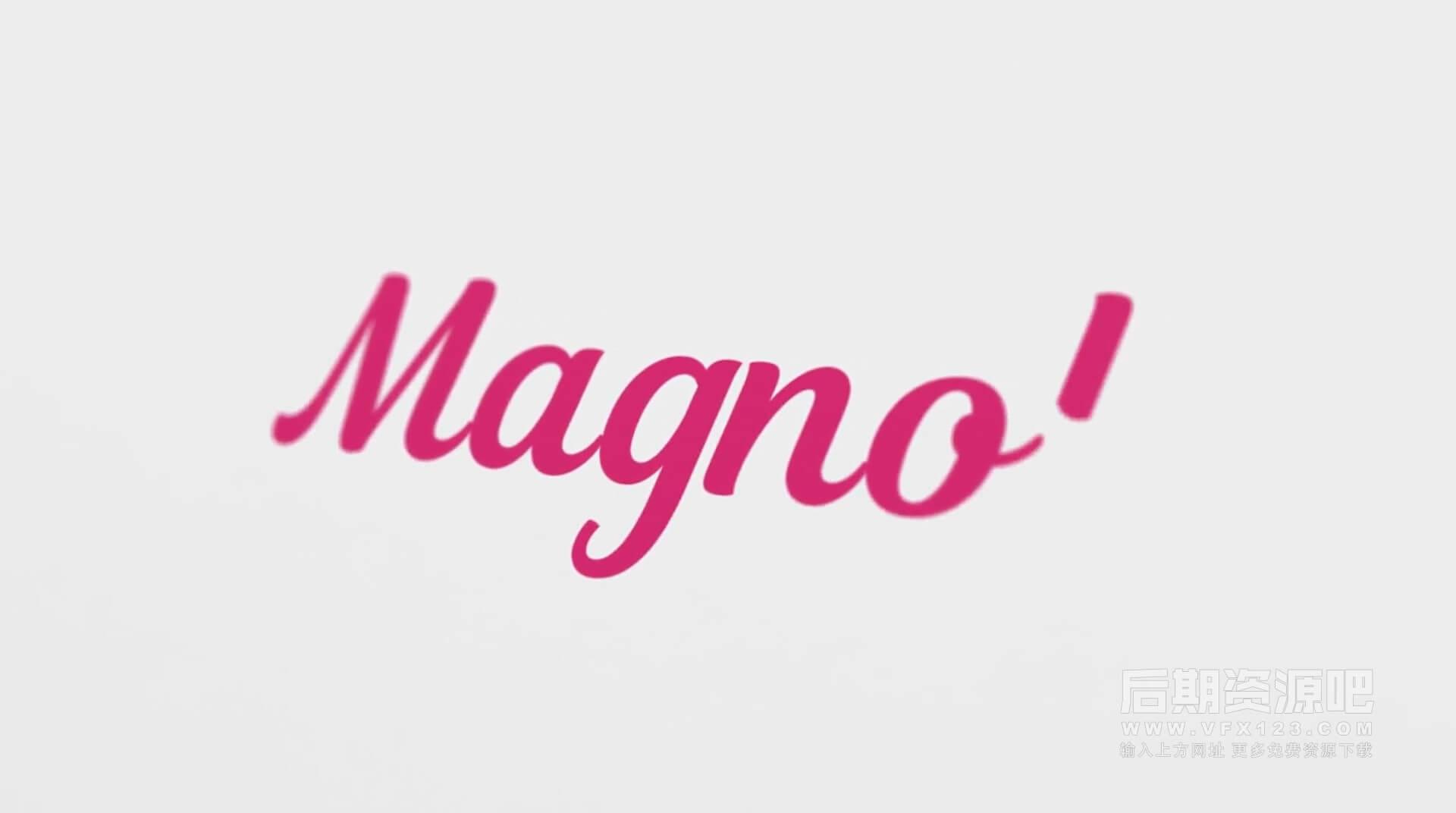 Fcpx插件 英文手写标题字幕 Vlog常用大标题模板 Magnolia Animated Typeface