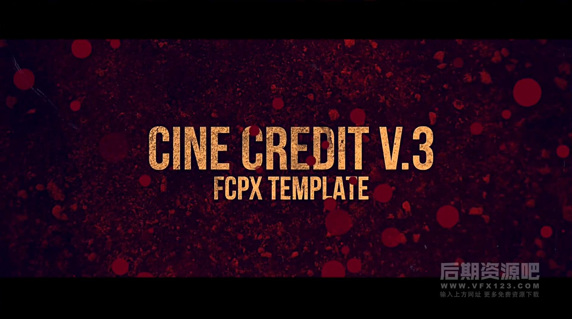 Fcpx插件 史诗级电影片尾字幕演职人员表 Cine Credit V.3