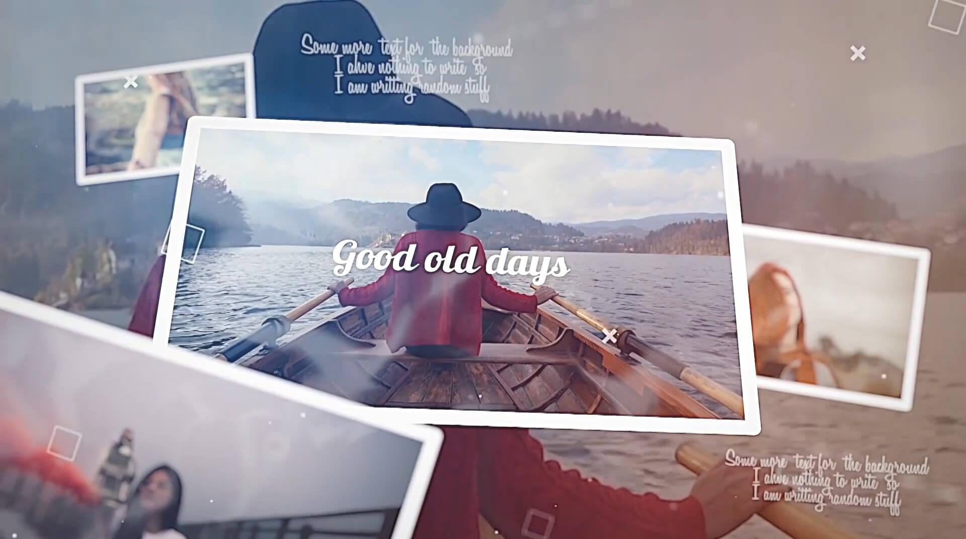 Fcpx主题模板 美好的旧时光唯美浪漫照片视频相册展示模板 Good old days