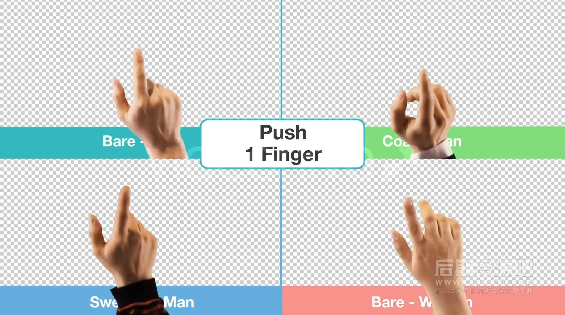 视频素材 点击交互触摸滚动滑动设备操作手势集合 Hand Touch Gestures