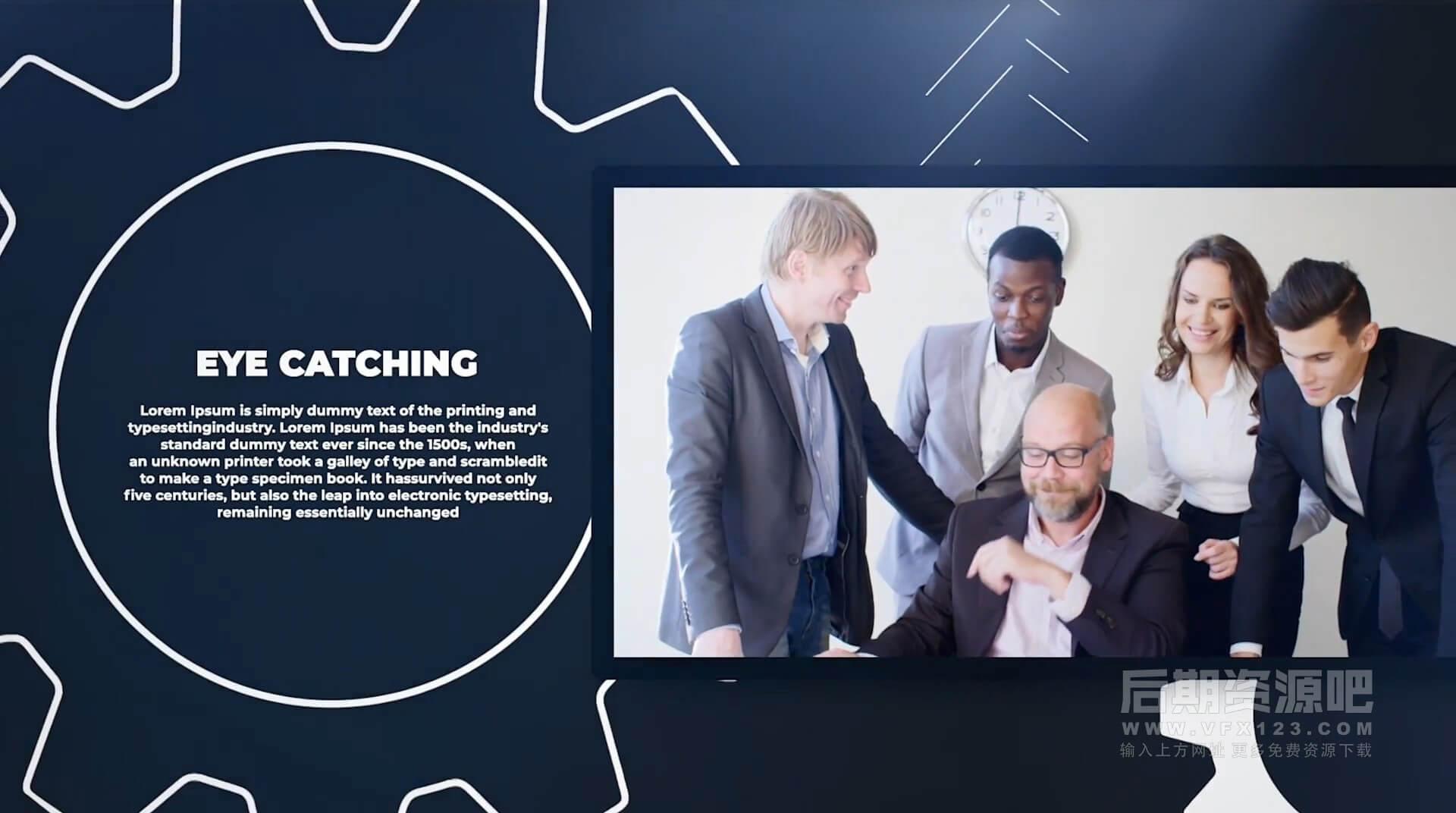 Motion模板 现代简洁企业介绍宣传片开场片头 Corporate Story
