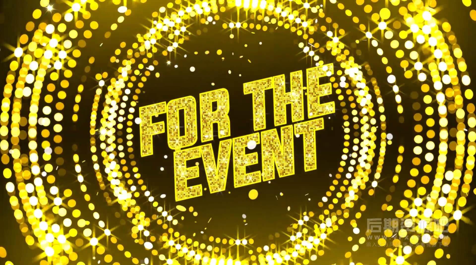 fcpx主题模板 聚会颁奖派对促销开幕式节日粒子闪光开场片头 Party Invitation Opener