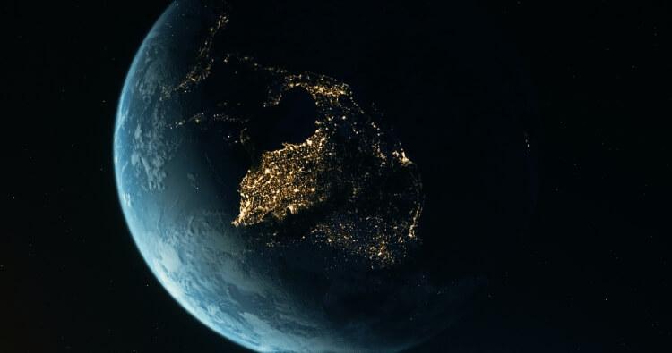 视频素材 4K太空地球旋转背景素材 Earth Continents