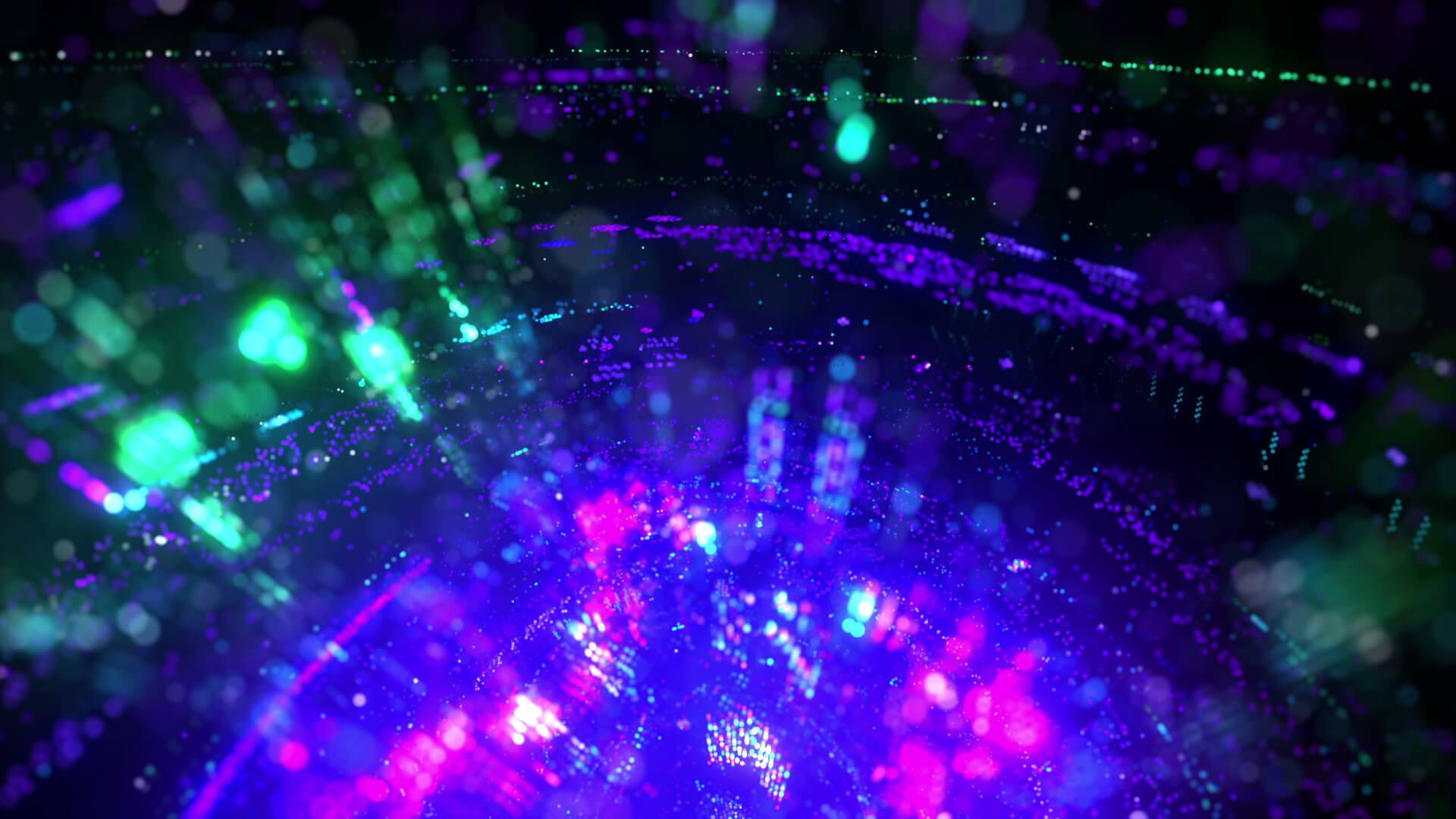 视频素材 12个高科技闪光VJ无缝循环LED大屏幕背景素材 Tech Glitters Vj Loops