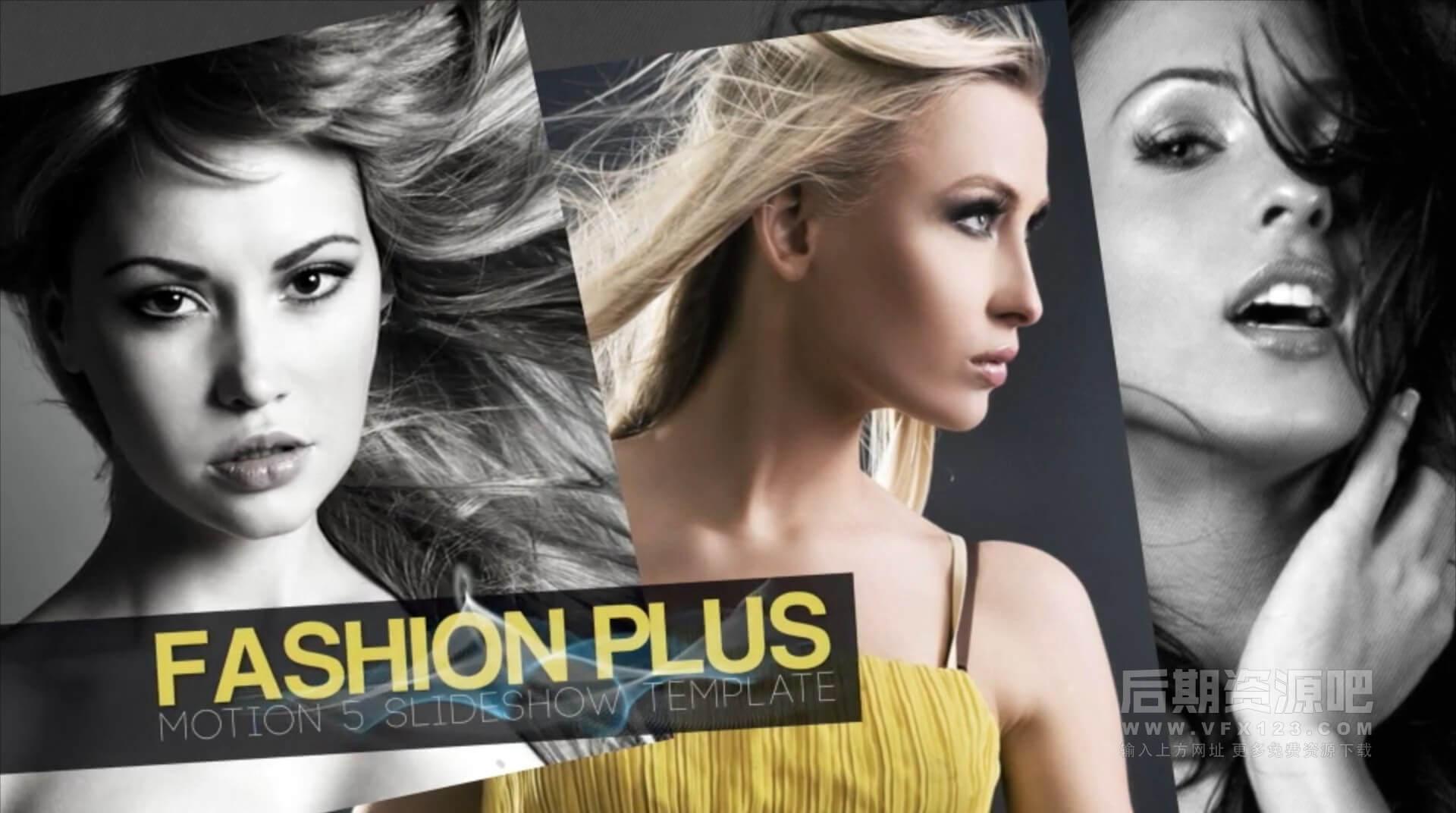 Motion模板 时尚个人写真图片视频展示片头模板 Fashion Plus